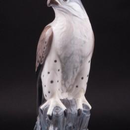 Фарфорвая статуэтка птицы Сокол, Lyngby, Дания.