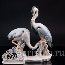 Фарфорвая статуэтка птиц Цапли, Karl Ens, Германия, 1920-30 гг.