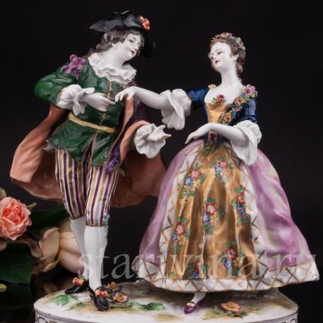 Фарфоровая композиция Пара на балу, Германия, 19 век.